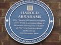Image for Harold Abrahams - Rutland Road, Bedford, UK