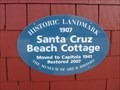 Image for Santa Cruz Beach Cottage blue plaque - Capitola, CA