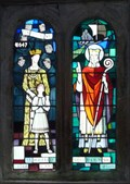 Image for Stained Glass, St Wilfrid's Church, Burnsall, N Yorks, UK
