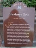 Image for Henderson Block - Tour Stop 50 - Salt Lake City, Utah