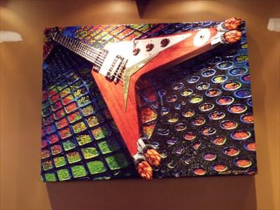 Art work inside the Hard Rock Cafe, Mall of America