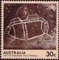 Image for Bunjil Shelter Rock Art Postage Stamp - Victoria