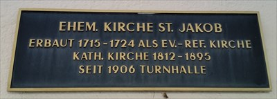 plaque of the Evangelic Reformed Church