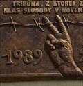 Image for Velvet revolution plaque - Kežmarok, Slovakia
