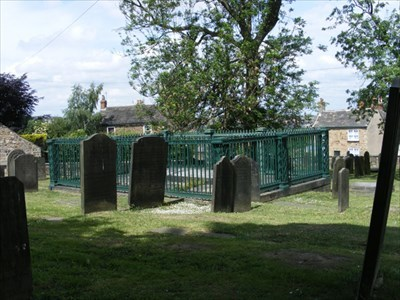 View of the Burial railings