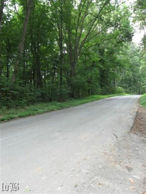 A county road now runs where the railroad right-of-way was during the 1800s.