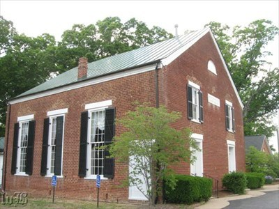 The church served as headquarters for Generals Lee and Hill. Every window was shot out when the Union army fired on it.