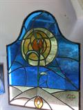Image for Zwei kleine Glasfenster bei der Fischerkapelle, Aschau im Chiemgau, Bayern, Germany