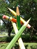 Image for Ginormous Pencils - Loch Haven Park, Orlando, Florida, USA.
