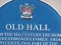 Image for Old Hall - Blue Plaque - Cowbridge, Vale of Glamorgan, Wales.