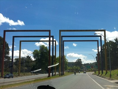 Airport Entrance Arches, JMC Airport, Rionegro, Colombia