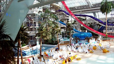 Water slides in the mall