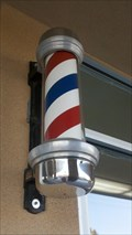 Image for Saratoga Plaza Barber Shop Pole - San Jose, CA