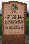 Image for Run of '89 - West Boundary ~ Kingfisher, OK