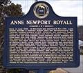 Image for Anne Newport Royall - Moulton, AL