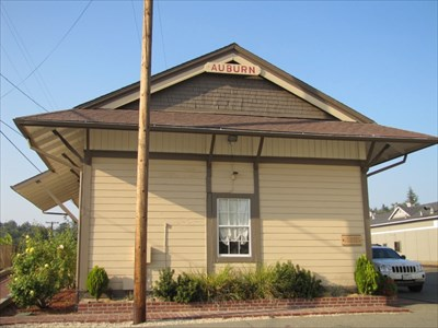 Auburn Depot End View, Auburn, CA