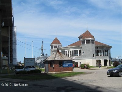 The round building houses a carousel.  This is also the entrance to the Fall River Heritage State Park (there may be another entrance to the park, so stick to the directions on the website)