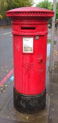 Image for Victorian Post Box in 56 Upper Richmond Road, East Putney, London, UK