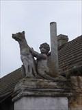 Image for Dog statue in Unhost, Czech Republic