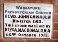 Image for 1913 — Waimatuku Presbyterian Church — Waimatuku, New Zealand