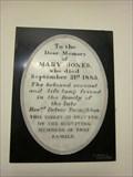 Image for Mary Jones - St Mary's Church, Chirk, Wrexham, Wales, UK
