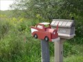 Image for Red Truck Mailbox - Wildfield, Ontaro, Canada