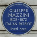 Image for Giuseppe Mazzini - N Gower St., London