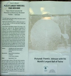 Interpretive display mentions Guinness record