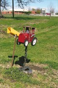 Image for Red Tractor Mailbox - Mendon, MO