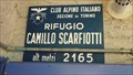 Image for Rifugio Scarfiotti - Elevation-Sign, Bardonecchia, Italy. 2165m