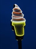 Image for Ice Cream Cone, Artistic Neon Sign - Highway 27, Clermont, Florida
