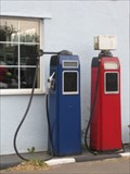 Image for Red and Blue Pumps - Johns Motors, Watling Street, Foster's Booth, Northamptonshire, UK