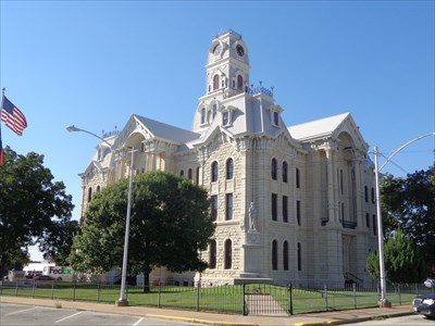 The Hill County Courthouse was destroyed in a 1993 fire, and then rebuilt.  The fire brought awareness to the state that many of these old courthouses are precious historical buildings, and has launched efforts to restore and preserve as many of them as is feasible.