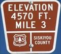 Image for Everitt Memorial Highway, California - Mile 3 - Elevation 4570