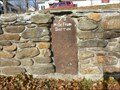 Image for Franklin Mile Marker - 72 Miles From Boston - 1767 Milestones - Warren, MA