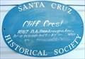 Image for Blue Plaque: Cliff Crest