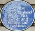 Image for F E Smith Earl of Birkenhead - Ebury Street, London, UK