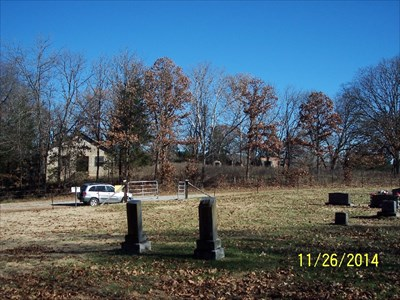 Abandoned Pleasant Valley Baptist Church, by MountainWoods, as seen from the Old Carney Cemetery across the road.