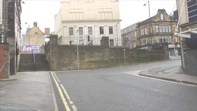 The steps on the left were used in the film and Billy and his friend walked down them. The steps lead down from Sunbridge Road to Southgate.