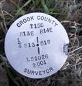 Image for T15S R13E S13 R14E S18 1/4 COR - Crook County, OR
