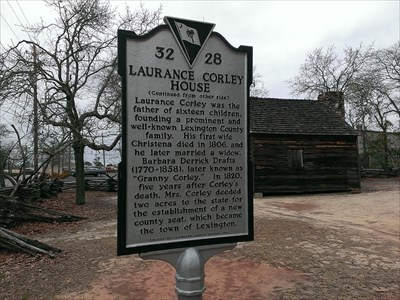 historical marker, Lexington SC