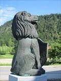Image for Löwe, Sparkassenbrunnen, Reit im Winkel, Lk Traunstein