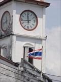 Image for Police Station Clock—Phuket City, Thailand.