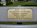 Image for Marathon Firefighters Memorial Bench - Marathon, NY