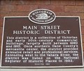Image for Main Street Historic District Historical Marker