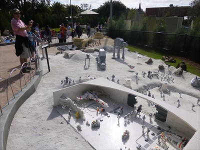 Lord Abercrombie visited Planet Hoth - Star Wars - Legoland Florida. USA.