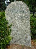 Image for Franklin Mile Marker - Boston 35, Springfield 65, Albany 165 - 1767 Milestones - Shrewsbury, MA