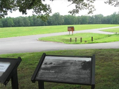 The Orange Turnpike, modern Rt. 20, bisected Saunders Field, but in 1864, it was just a dirt road.