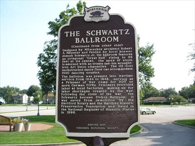 Schwartz Ballroom Marker (Side 2) in Hartford.
