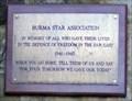 Image for Burma Star Association Plaque, Cooper memorial Garden, Barnsley.